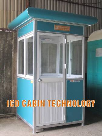 Cabin bảo vệ khung thép công trình xây dựng