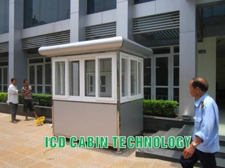 Lắp đặt bốt gác bảo vệ khung inox tại học viện hành chính quốc gia