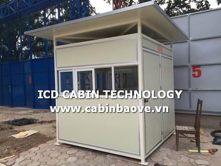 Cabin nhà bảo vệ bằng Panel cho công trình, dự án xây dựng