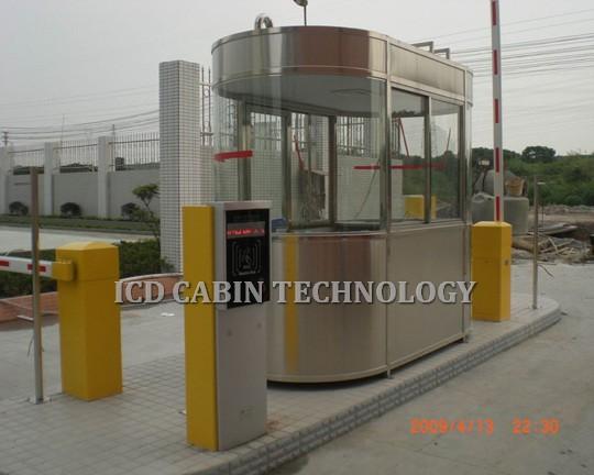 Cabin bảo vệ inox kính cong cao cấp BGI-1225